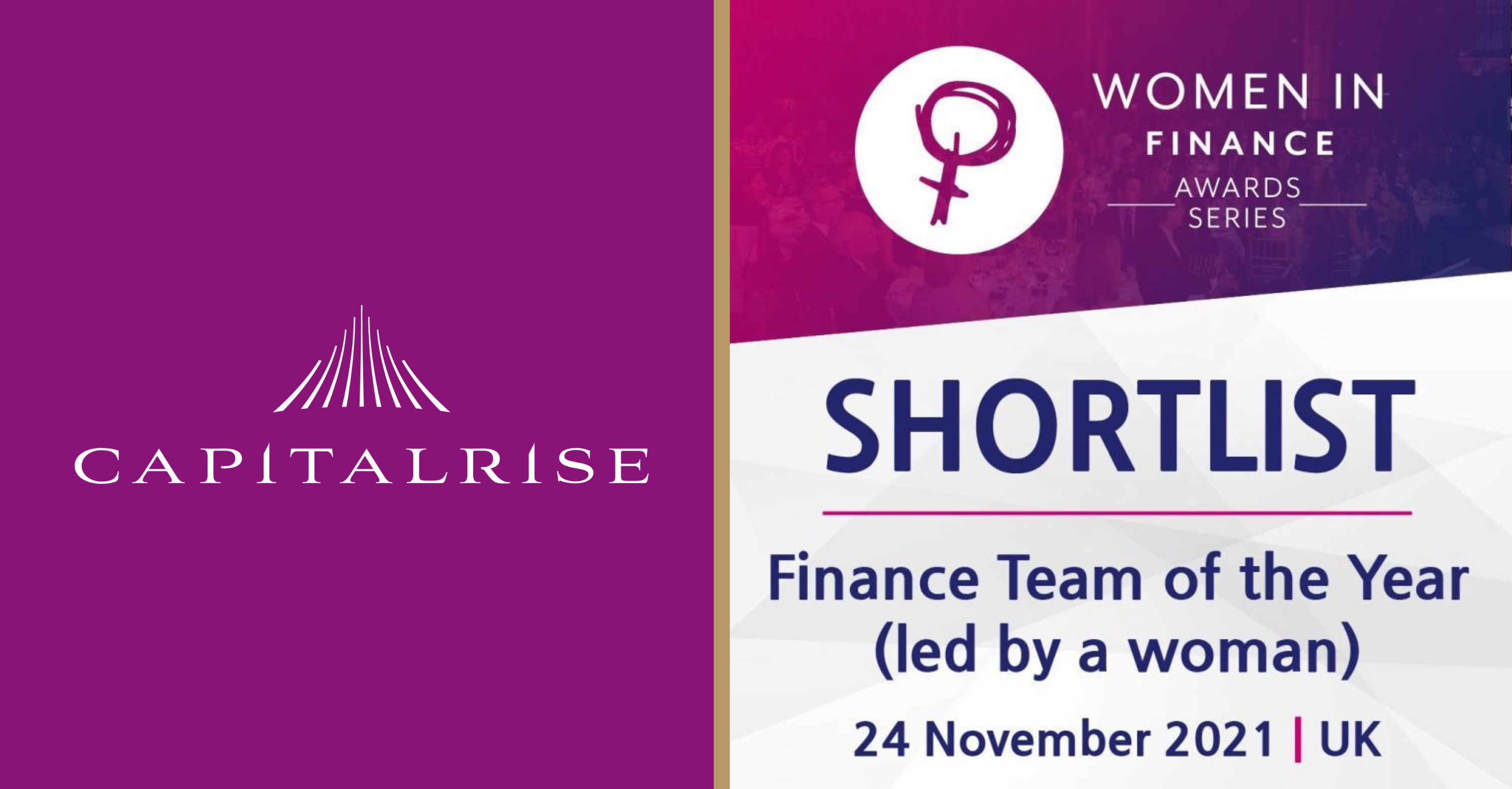 Uma Rajah and CapitalRise shortlisted for Finance Team of the Year award